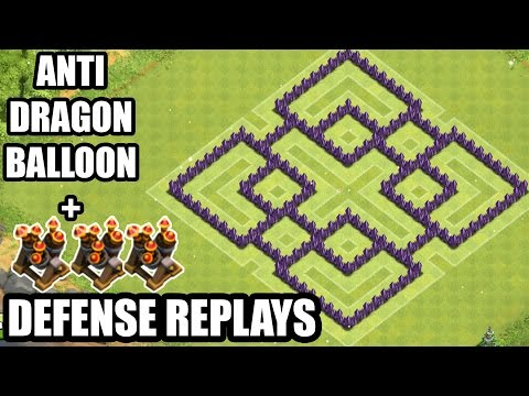 clash of clans town hall 7 dragon defense games