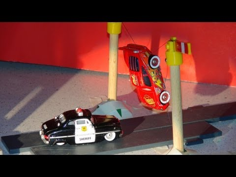 Pixar Cars . a re-enactment of how Lightning McQueen got Arrested in Radiator Springs..cool