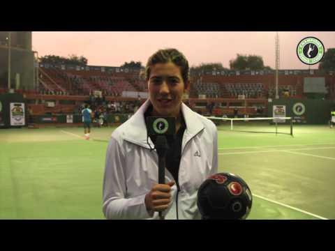 Garbine Muguruza challenges Leander Paes in a different sport...