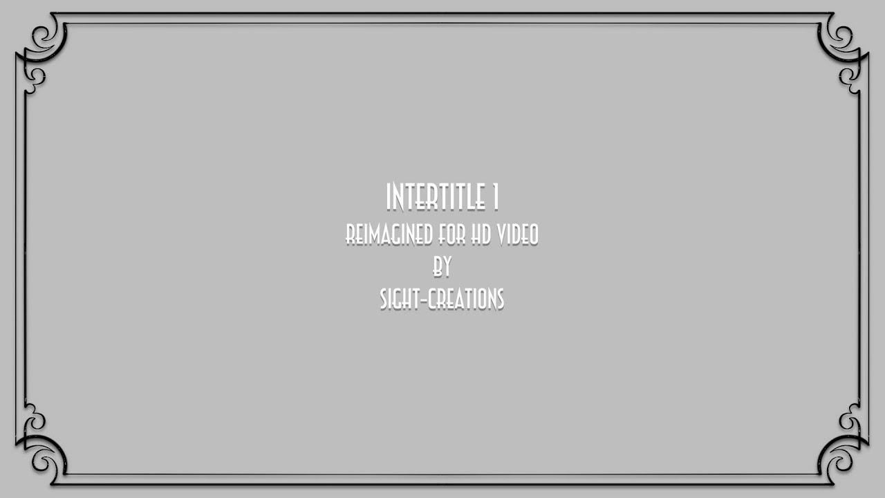 Intertitle 1 A Final Cut Pro X Generator Silent Movie