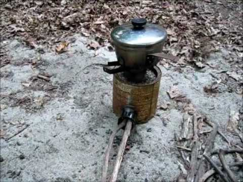 Homemade Rocket Stove Water Boil Test