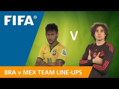 Brazil v. Mexico - Teams Announcement