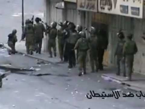opposit Ambush in Hebron الشبان ينصبون كمين عكسي