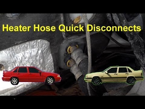 Heater Hose Quick Disconnect. Volvo 850. S70. V70. XC70. etc. - Auto Repair Series