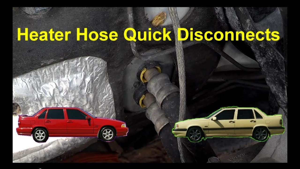heater hose quick disconnect volvo    xc  auto repair series youtube