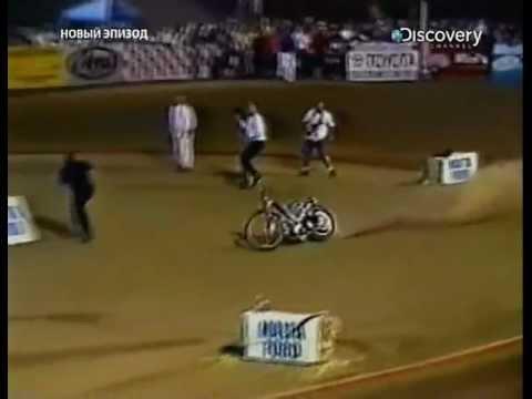 Мотоцикл продолжил гонку без мотогонщика