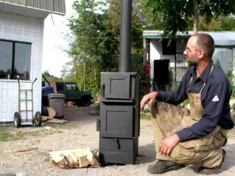 Po le combustion lente fait maison youtube for Foyer exterieur a donner