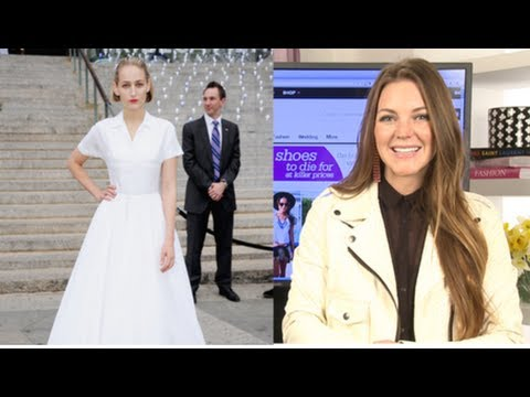 Leelee Sobeski's White Jil Sander Gown is Fit For a Bride, FabSugarTV Fab Flash