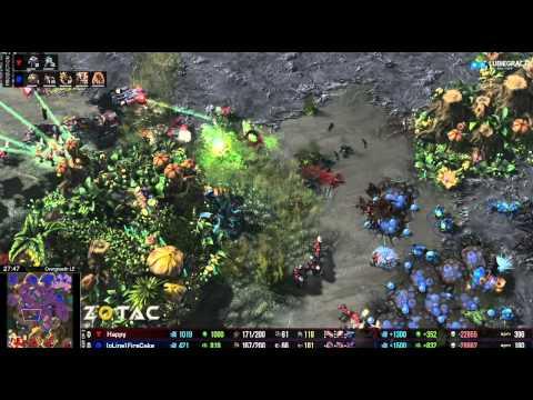 TvZ Happy vs Firecake - bo3 - Starcraft 2 HD polski komentarz