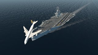 Big Planes Landing on an Aircraft Carrier! [XP11]
