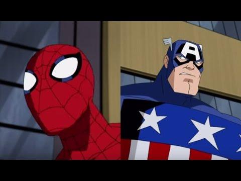 Песня Тук, тук, тук я Человек Паук: Человек Паук, Капетан Америка
