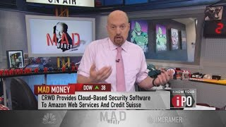Cramer explains why he doesn't recommend buying CrowdStrike here
