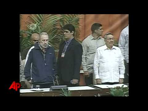 Raw Video: Fidel Castro Makes Surprise Showing