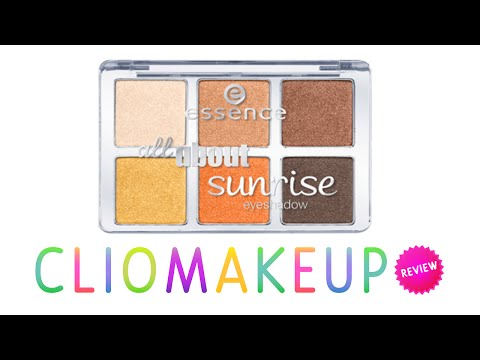 Review Recensione Palette SUNRISE essence