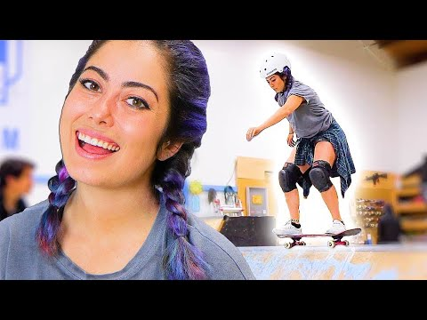 PRO SNOWBOARDER LEARNS HOW TO SKATE A MINI RAMP EP. 2