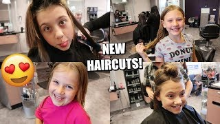 Taking The Kids To Get NEW HAIRCUTS! Teen And Tween Hair Makeover!
