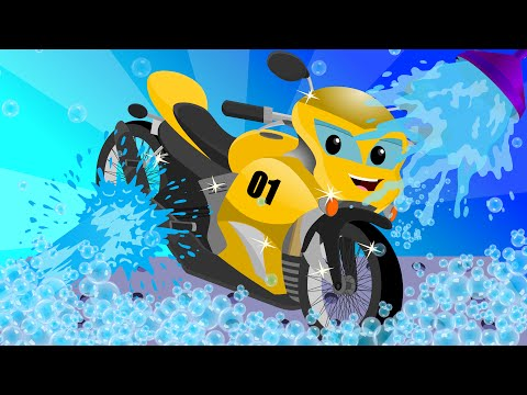 Sports Bike | Car Wash for Kids & Toddlers | Game Video