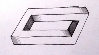 How To Draw The Impossible Penrose Rectangle - Cool Optical Illusion