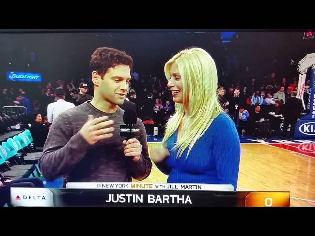 Justin Bartha makes Jill Martin uncomfortable