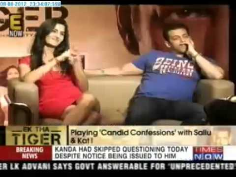 salman khan and katrina kaif  Playing 'Candid Confessions' on (TIMESNOW)