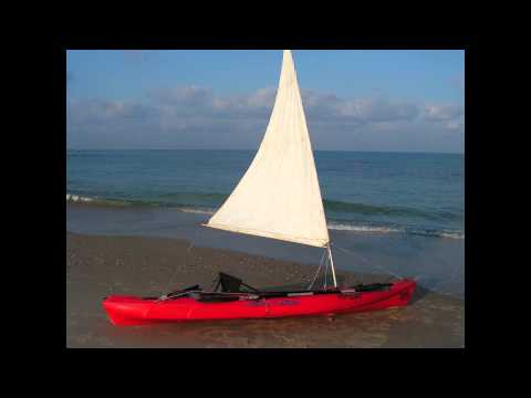 Ocean Kayak Big Game sailing . .mpg