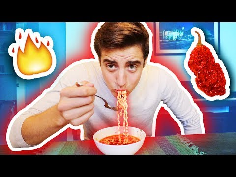EXTREMELY SPICY GHOST PEPPER NOODLE CHALLENGE