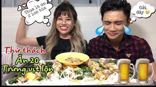Thử thách Ăn 20 Trứng Vịt Lộn Nóng Hổi Và Cái Kết Sml Cho Người Bị Thua Nana Liu