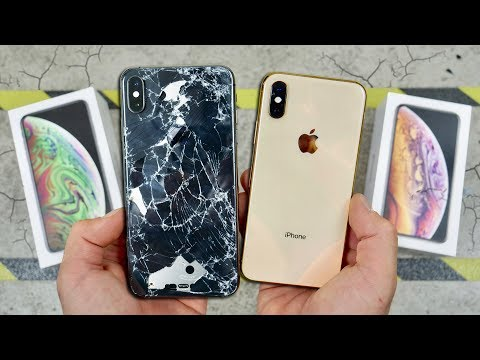iPhone XS vs XS Max DROP Test! Worlds Strongest Glass!
