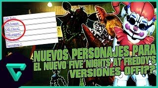 NOTICIA: ¡NUEVOS PERSONAJES PARA FIVE NIGHTS AT FREDDY