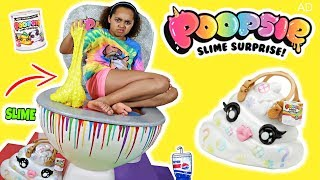 Giant Poopsie Slime Surprise Toilet! POOEY PUITTON DIY Slime