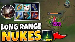 OMG! AP KOG'MAW R CAN LITERALLY ONE SHOT ACROSS THE MAP! (NUKE CITY) - League of Legends