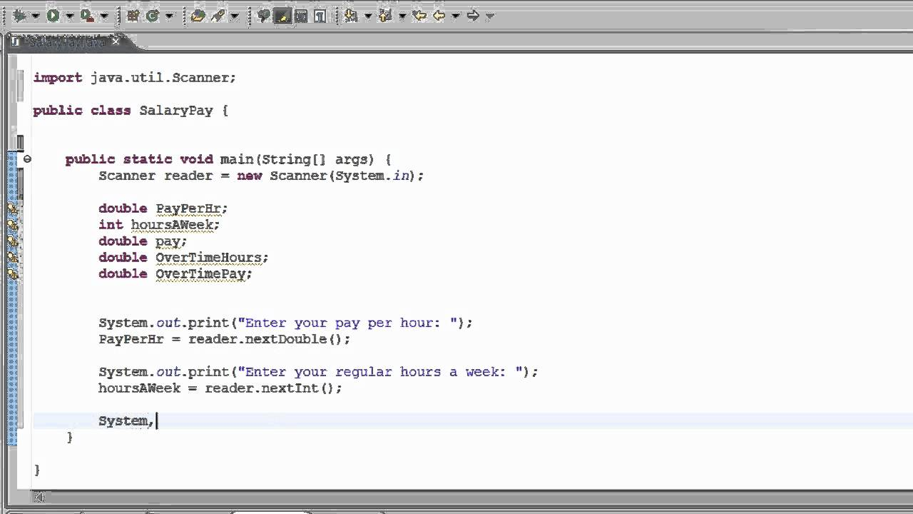 11TH Java Tutorial - Weekly Pay Calculator - YouTube
