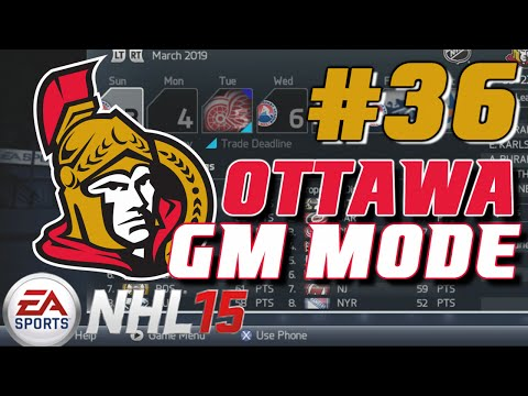 NHL 15: GM Mode Commentary - Ottawa ep. 36