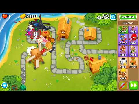 Bloons TD 6 - Hard, Chimps, Town Centre, (NO MONKEY KNOWLEDGE)