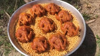 Cooking 9 Full Chickens with 9 KG Chickpeas - Awesome Full Chicken Gravy with Chickpeas