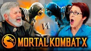 ELDERS PLAY MORTAL KOMBAT X (Elders React: Gaming) [RUS VO by IndivIdualist]