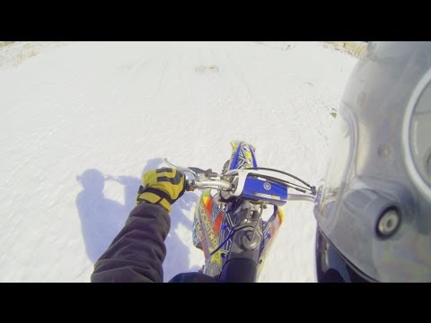 Winter Dirt Biking!