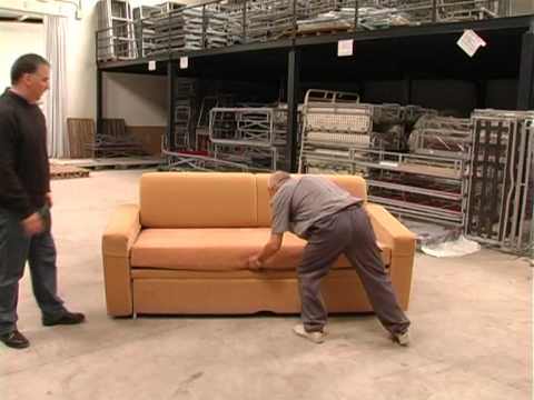 La cama sof de manudecor youtube for Modelos de sofas camas individuales