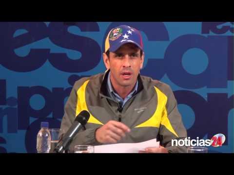 Capriles le pide a Maduro que le