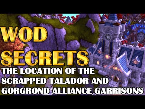 The Location of the Scrapped Alliance Garrisons in Talador and Gorgrond