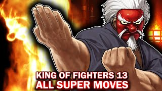KOF XIII 13 All DM SDM NeoMax Super Moves King of Fighters