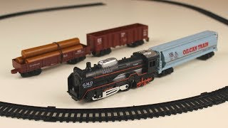 Train Toys videos for children Assembly Railroad | Смотрим Поезд и Вагоны Собираем Железную Дорогу