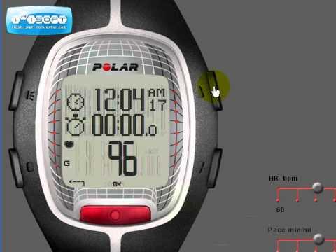 Reloj Deportivo Polar RS300X Ejercicio - Editando la Pantalla
