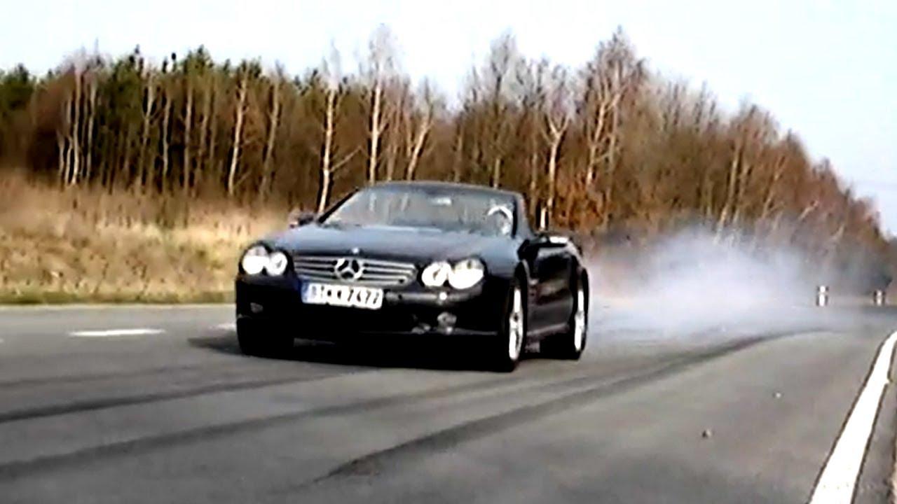 Mercedes Sl 55 Amg Action Sound Sl55 Benz V8 Kompressor Berlin R230 Cabrio 65 Slr 63 V12 Youtube