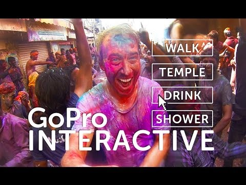 HOLI Festival Of Color (INTERACTIVE) 2014 - GOPRO Tour in India