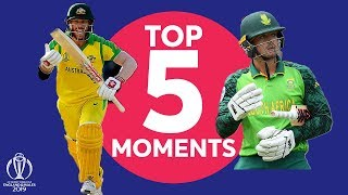 Warner? De Kock? | South Africa v Australia - Top 5 Moments | ICC Cricket World Cup 2019
