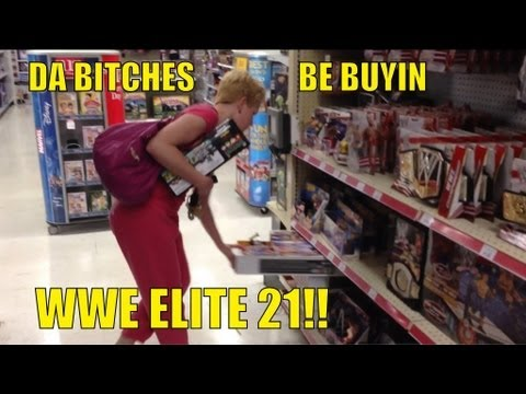 WWE ACTION INSIDER: Elite 21 at TOYSRUS!! store figure aisle shopping Mattel wrestling figures