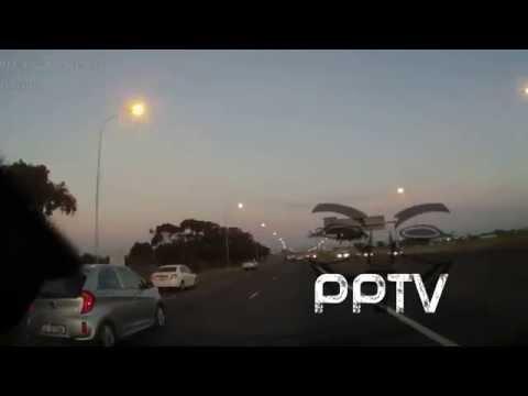 Drunk Driver Crashes BMW Convertible Soars Through Air Dies on Landing