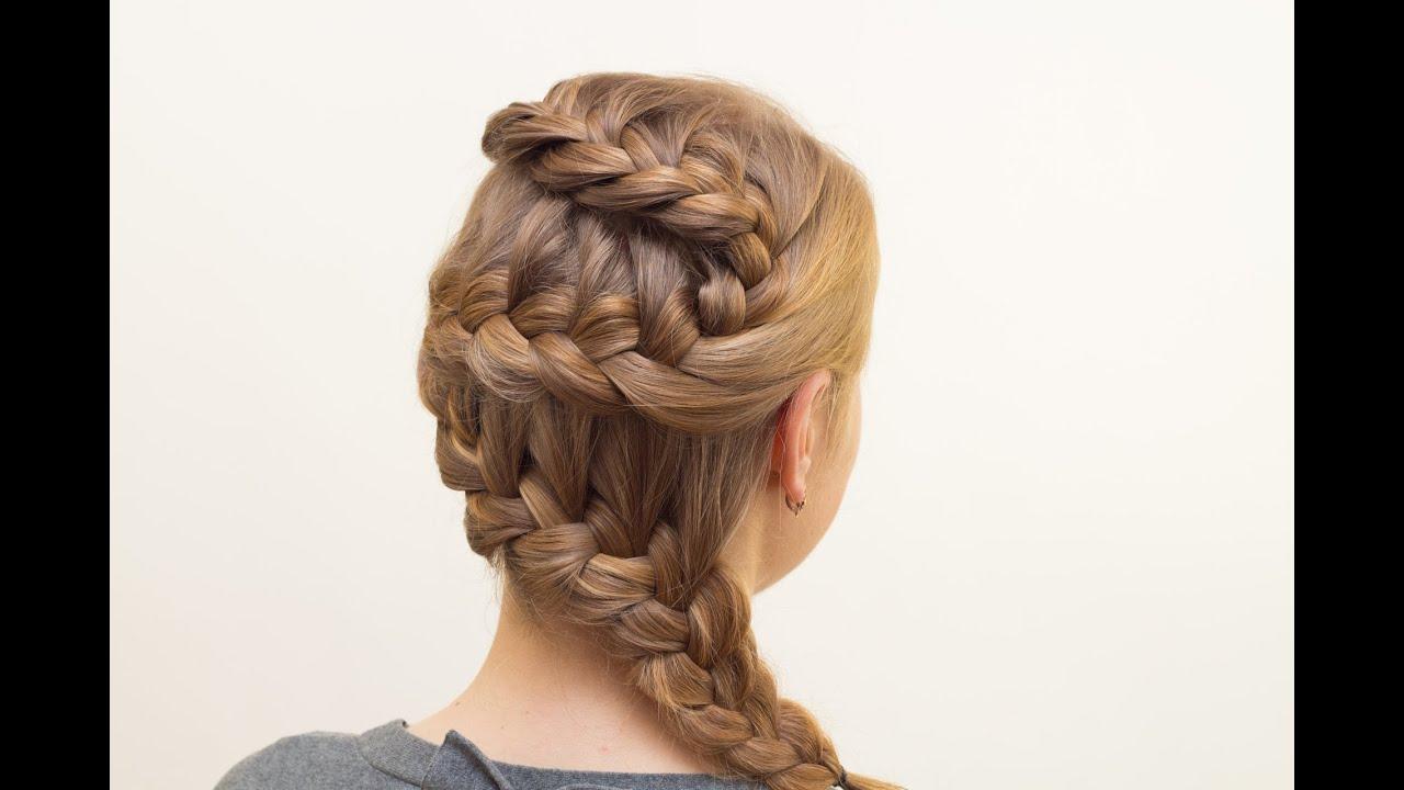 Прически колоски для средних волос с челкой
