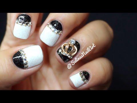 Black and White Nail Art & Nail Charm